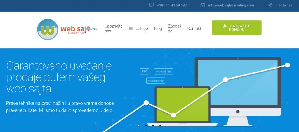 dizajn početne stranice veb sajta